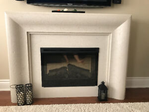 Contemporary Mantel with Electric Fireplace
