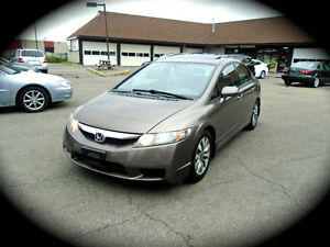 2010 Honda Civic EX-L,LEATHER & HEATED SEATS, MOONROOF, 5Sp. M