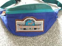 Retro ski bum bag