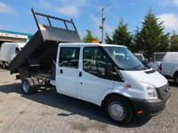 Ford Transit tipper 2.2 TD T350 double cab 2014 14 Reg 92000 miles only full