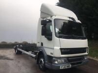 2012 12 DAF LF 45.210 EURO 5 12 ton 24ft demount chassis cab air suspension