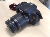 Canon EOS 600D with 18-55mm Lens, carry-case and 16GB SD card