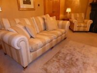 Duresta Lowndes grand sofa and 2 armchairs ex John Lewis cost over £7000