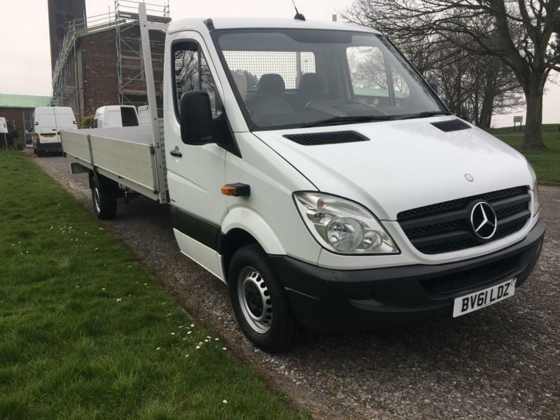 Mercedes Sprinter 313 CDI 3.5T Dropside Extra Long 6 Metre 19ft 10in Load Length