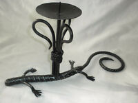 Chandelier Fer Forge Lizard Wrought Iron Candle Holder Barbados