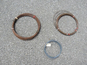 Three coils of wire
