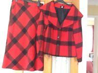 Red suit size12 designer GODSKE