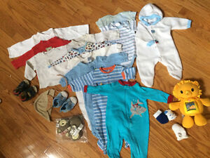 0-3 months boy clothes (20 different items)