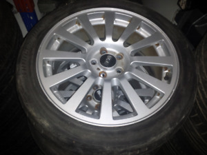 Subaru Forester sti OEM bbs rims wheels tires 17x7 +48 5x100