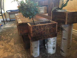 Barnwood accent table
