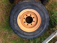 Two Great spare skid steer tires