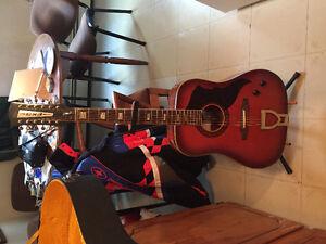 Rare vintage, 1960, 12 string acoustic electric custom guitar