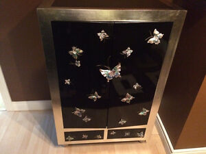 Moving Sale !!! Butterfly Black Cabinet!