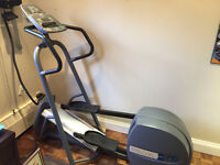 Precor elliptical cross trainer and bench