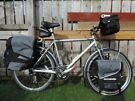 Giant touring bicycle, with Altura, Ortlieb panniers. not mountain bike