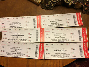Oilers Tickets $100 each
