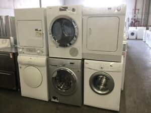 "24"" Apartment Size Stackable Stacked White Washer"