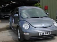 Volkswagen Beetle 1.6 2003MY. Black heated leather seats. 82000M