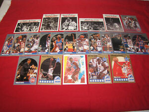 50 Different Detroit Pistons cards from 1990s