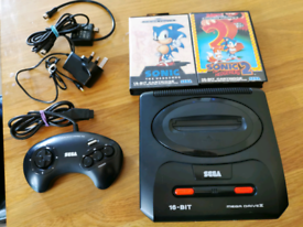Sega Mega Drive 2 with Sonic game bundle