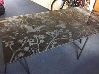 Glass table -Ikea