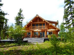 luxury log home on Spout Lake / Seaplane Base