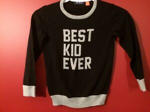 "Children's Place ""Best Kid Ever"" Boy's Sweater - Size 5T"
