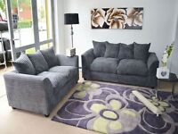 BRAND NEW SOFA FABRIC CORD 3+2 AND CORNER DIFFERENT COLOURS AVAILABLE ON SALE