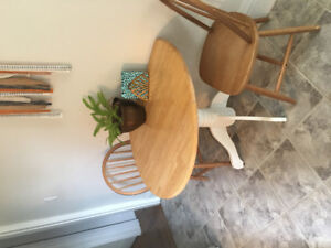 Pine table with 2 chairs $80