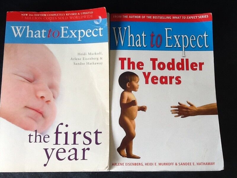 Baby care - 'What to Expect' books x2