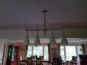 4 light island stainless steel color fixture
