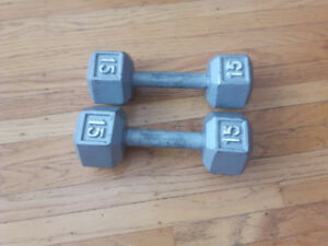 Dumbbells - 15lb each