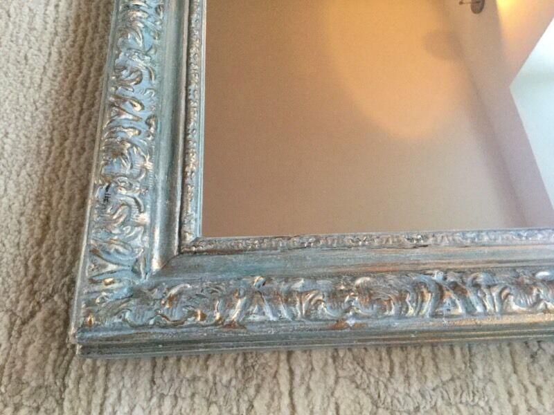 Mirror With Shabby Chic Frame Painted With Annie Sloan Chalk Paint