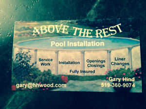 Above The Rest Pool Installations Chatham Kent/London/Windsor