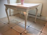 Large extending shabby chic table