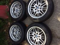 4-2001 BMW 540 rims and tires