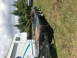 22 foot tri axle hyd tilt trailer 10000 lb winch