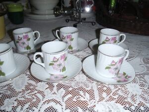 China Tea/Expresso Cups and Saucers- 2 patterns