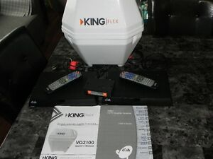 King Flex Portable Satellite TV + (2) HDTV Dish Satellite Receiv