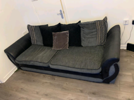 3 seater sofa& cuddle chair which you can connect your phone to £350