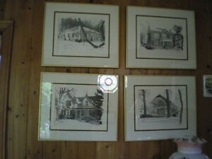Framed prints of Grimsby heritage homes