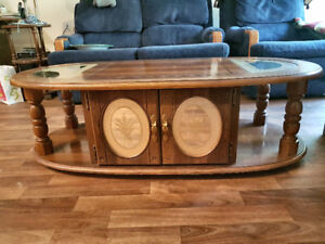 Solid Oak Coffee Table/End Table
