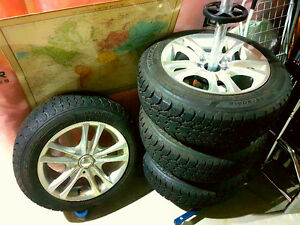 GOODYEAR WINTER TIRES AND ALLOY RIMS FOR SALE!!! Edmonton Edmonton Area image 1