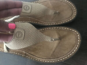 Authentic uggs sandals ~ size 10