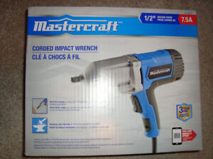 Brand New in Box !!! Mastercraft 7.5A Impact Wrench, 1/2-inch