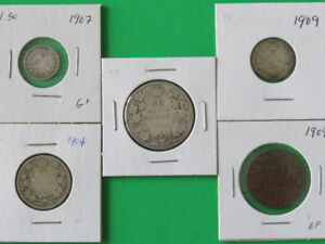 Canada Coin Type Set King Edward VII (5pcs)