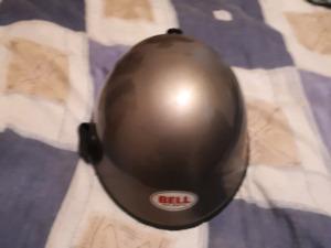 Bell skull cap motorcycle helmet.