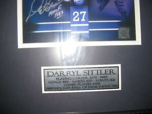 Collectibles Autograph of Darryl Sittler #27 For Sale