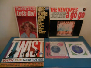 Vinyl Records/LP's The Ventures Surf Garage Lot of 5