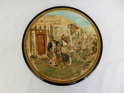 "JOHANN MARESCH ART POTTERY PLATE 11"" DIAMETER JM 5660 HIGH RELIEF"
